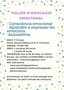 TALLER D'EDUCACIÓ EMOCIONAL